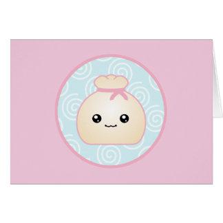 Kawaii Dumpling Birthday Card