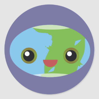 Kawaii Earth Day is EVERY DAY! Be Kind To Earth! Classic Round Sticker