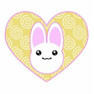 Kawaii Easter Bunny Cutout Shape Magnet