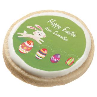 Kawaii Easter Bunny Easter Eggs Round Premium Shortbread Cookie