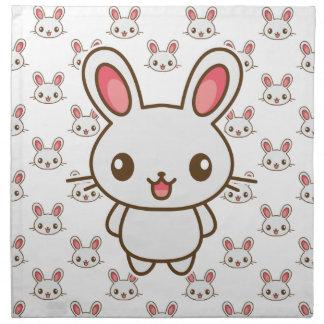 Kawaii Easter Bunny Napkin