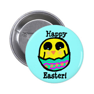 Kawaii Easter Chick Button