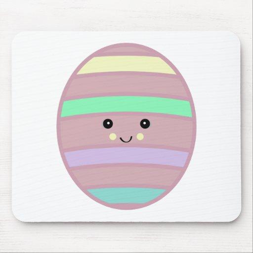 kawaii easter eggy mouse pad