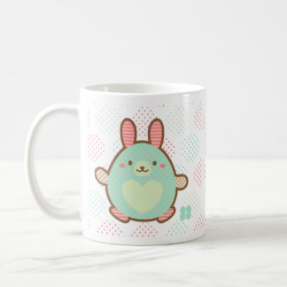 Kawaii egg bunny coffee mug