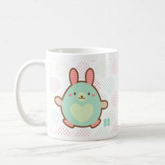 Kawaii egg bunny classic white coffee mug