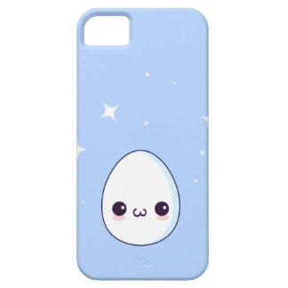 Kawaii Egg with a hapy face Blue iPhone 5 Case