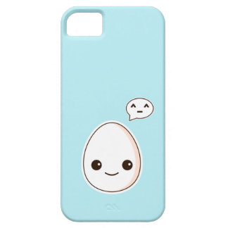 Kawaii Egg with a hapy face sky Blue iPhone 5 Cases