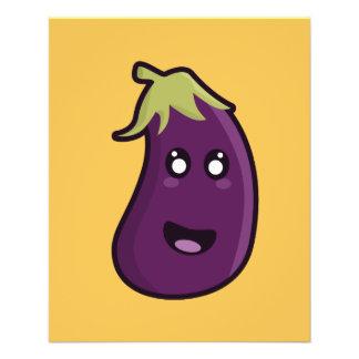 """Kawaii eggplant 4.5"""" x 5.6"""" flyer"""