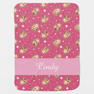 Kawaii Eggs Pattern - Pink Baby Blanket for Girls
