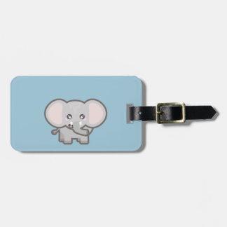 Kawaii elephant bag tag