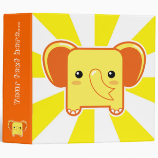 Kawaii elephant binder