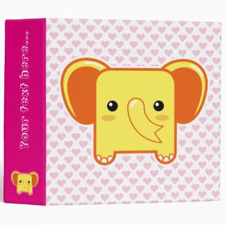 Kawaii elephant vinyl binders