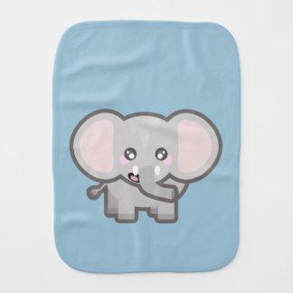 Kawaii elephant burp cloth