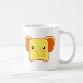 Kawaii elephant coffee mug