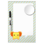 Kawaii elephant dry erase board with mirror