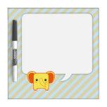 Kawaii elephant Dry-Erase whiteboard