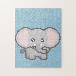 Kawaii elephant jigsaw puzzle