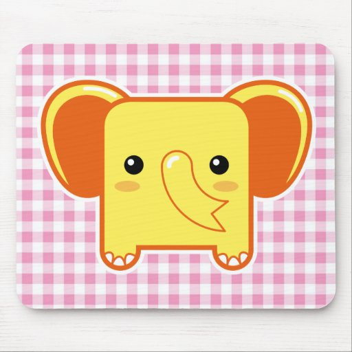 Kawaii elephant mouse pads