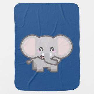 Kawaii elephant stroller blanket