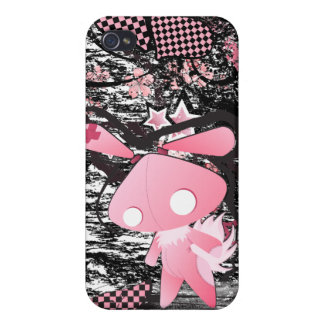 Kawaii emo Pink Bunny - Dark -  iPhone case