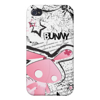 Kawaii emo Pink Bunny iPhone case