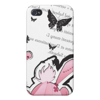 Kawaii emo Pink Bunny -  iPhone case