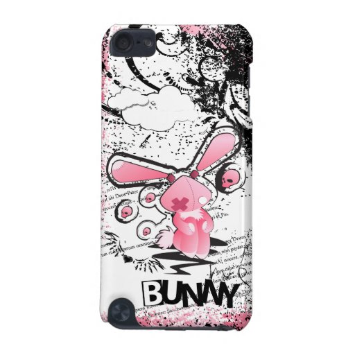 kawaii emo pink bunny ipod case ipod touch 5g case