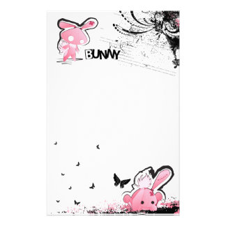 Kawaii emo Pink Bunny Stationery