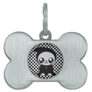 Kawaii Emo Placa De Nombre De Mascota