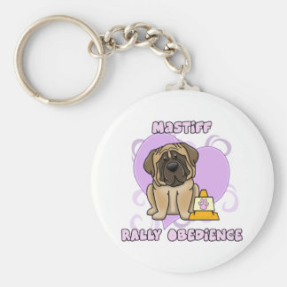 Kawaii English Mastiff Rally Obedience Keychain