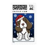Kawaii English Springer Spaniel Christmas Stamps