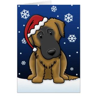 Kawaii Estrela Mountain Dog Christmas Card