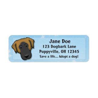 Kawaii Estrela Mountain Dog Custom Return Address Label