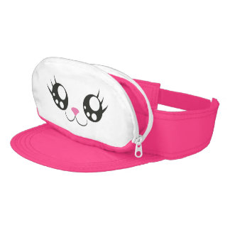 Kawaii Eyes Neon Pink Visor