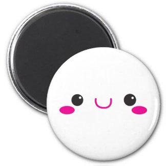KAWAII FACE cute! 2 Inch Round Magnet