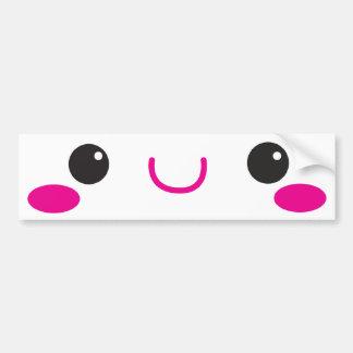 KAWAII FACE cute! Bumper Sticker