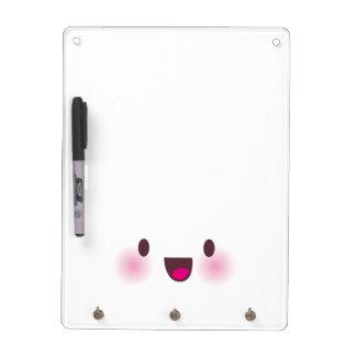 Kawaii face dry erase whiteboards