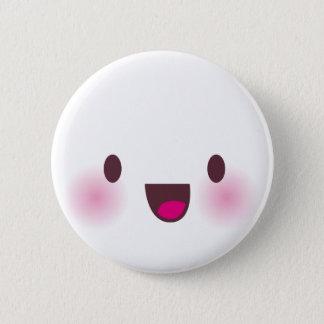 Kawaii face pinback button