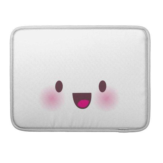 Kawaii face sleeve for MacBooks