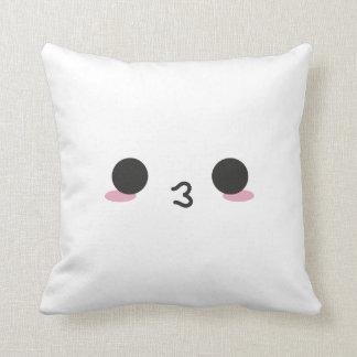 Kawaii Faces - Two Faced Throw Pillow
