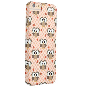 Beach Themed Kawaii Fall Owl Barely There iPhone 6 Plus Case