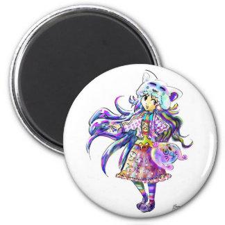 Kawaii Fashion Cute Anime Girl - Manga Cool Style Fridge Magnet