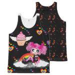 Kawaii Fashion Girl cupcakes rainbow PinkyP All-Over Print Tank Top