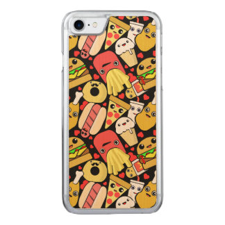 Kawaii Fast Food Pattern Carved iPhone 7 Case