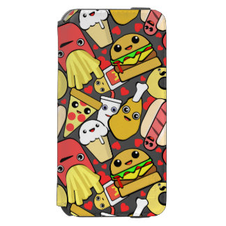 Kawaii Fast Food Pattern iPhone 6/6s Wallet Case