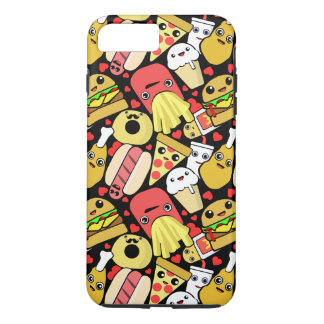 Kawaii Fast Food Pattern iPhone 8 Plus/7 Plus Case