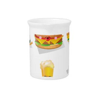 kawaii fast food pitcher