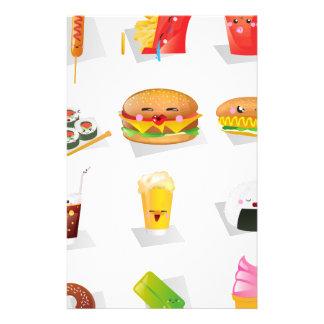 kawaii fast food stationery
