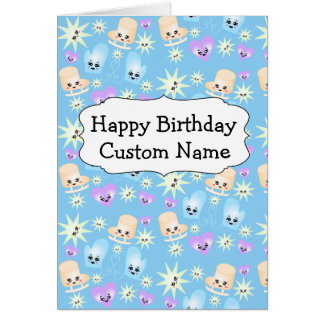 Kawaii Figure Skate Birthday Card