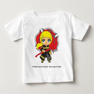 Kawaii Firefighter Girl - Customizable Infant T-shirt